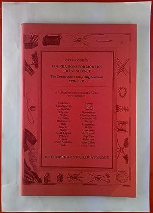 Foundations For Modern Social Science. Catalogue 298.: Interlibrum Antiquariat Vaduz,