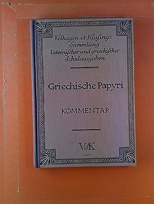 Lateinische und griechische Schulausgaben. Griechische Papyri. Urkunden: A. Kurfess, H.