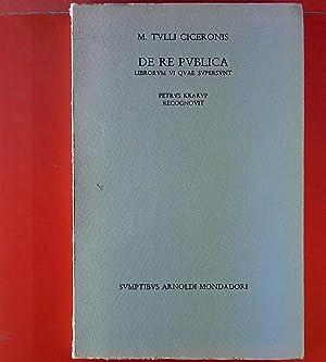 M. Tulli Ciceronis. De Re Publica. Libror: Petrus Krarup