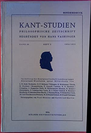 Kant-Studien. Philosophische Zeitschrift. Band 46 - Heft: Hans Vaihinger