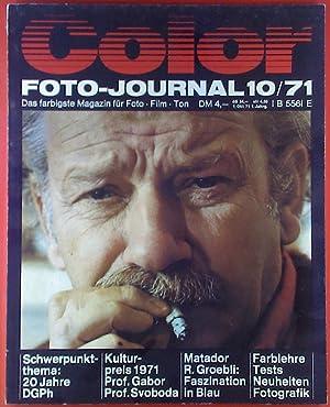 Color Foto-Journal 10/71, Themen: Kulturpreis 1971 Prof.