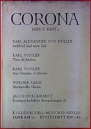 CORONA Jahr X - Heft 2. Inhalt: