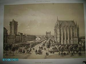 (XIXe)GRAVURE DU CHATEAU DE VINCENNES,GRAND FORMAT 33 x 46 CM: Lith.Charpentier,Félix Benoist ...