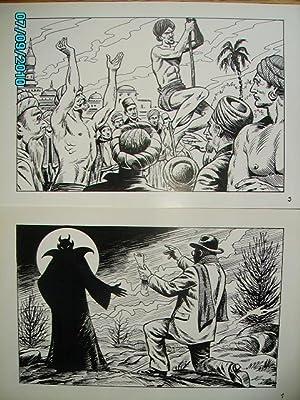 2 DESSINS ORIGINAUX:INTERVENTIONS DIABOLIQUES & FAKIR: GERON Jacques(dessinateur de YALEK)