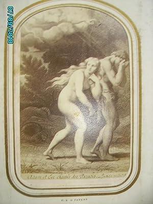 ALBUM RELIGIEUX XIXe SIECLE,22 PHOTOGRAPHIES:CREATION,ADAM ET EVE,SATAN,.: F.R.G.PATENT