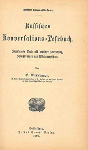 Methode Gaspen-Otto-Sauer. Russisches Konversation-lefebuch
