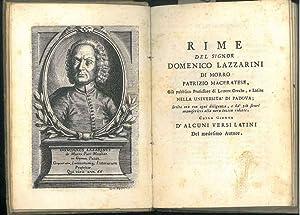 Rime del signor Domenico Lazzarini di Morro: Lazzarini, Domenico