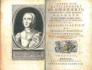Jacobi, sive actii synceri Sannazarii, neapolitani, viri: Sannazzaro, Iacopo