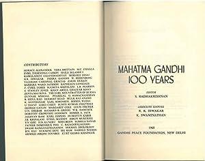 Mahatma Gandhi 100 years: Radhakrishnan S