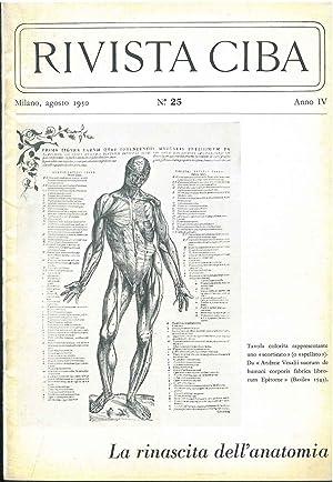 La rinascita dell'anatomia. Rivista Ciba