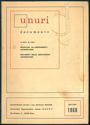 Legge 2314. Modifiche all'ordinamento universitario. Documentazione