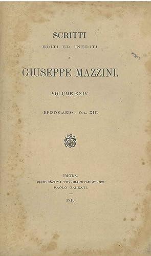 Scritti editi ed inediti di Giuseppe Mazzini.: Mazzini Giuseppe