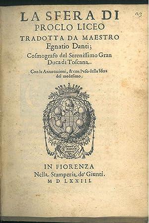 La sfera di Proclo Liceo tradotta da: Proclus, Diadochus