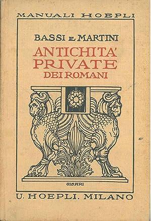 Antichità private dei romani. Quarta edizione in: Kopp W, Moreschi