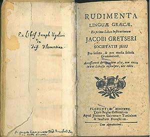 Rudimenta linguae graecae ex primo libro institutionum: Gretser, Jacob