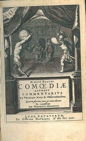 M. Acci Plauti Comoediae. Accedit commentarius ex: Plautus, Titus Maccius