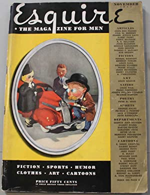 Esquire, the magazine for men. Vol. VIII, November 1937 . Contiene , tra l'altro un articolo di J...