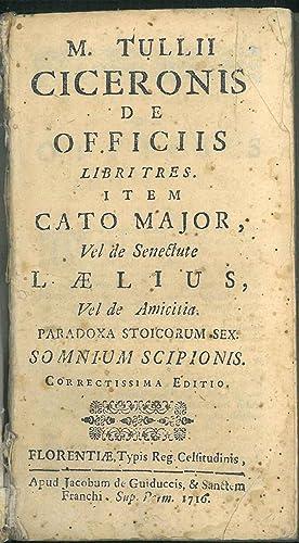 M. Tullii Ciceronis De officiis libri tres.: Cicero Marcus Tullius