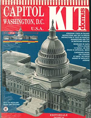 Domus kit. Capitol Washington, D.C. Confezione di materiale da costruire, cardboard model. Design...