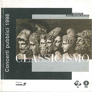 Concerti pubblici 1998. Classicismo: Orchestra della Svizzera