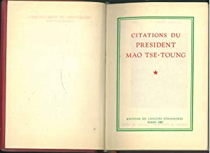 Citations du president Mao Tse-Toung