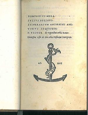 Pomponius Mela. Iulius Solinus. Itinerarium Antonini Aug.: Mela, Pomponius