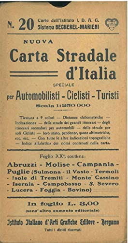 Nuova carta stradale d'Italia, speciale per automobilisti,: Marieni Giovanni (