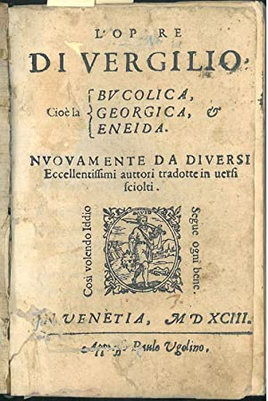 L' opere di Vergilio cioè la Bucolica,: Virgilio