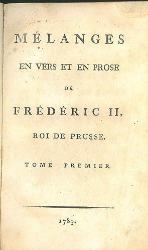 Mélanges en vers et en prose de: Friederich II Preussen,