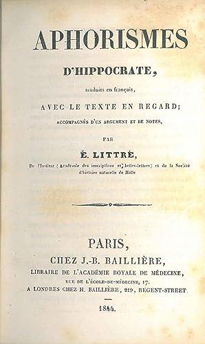 Aphorismes d'Hippocrate, traduits en français, avec le: Hippocrates Ippocrate