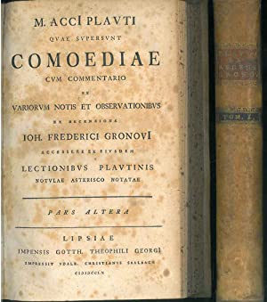 M. AccI Plauti Quae supersunt comoediae cum: Plautus, Titus Maccius