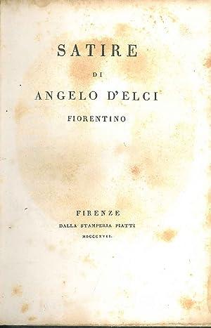 Satire di Angelo D'Elci fiorentino: D'Elci Angelo