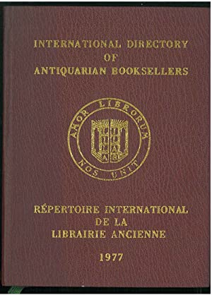 Repertoire international de la librairie ancienne edité par la lingue internationale de la librai...