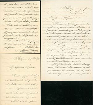 3 lettere autografe e manoscritte datate 1875