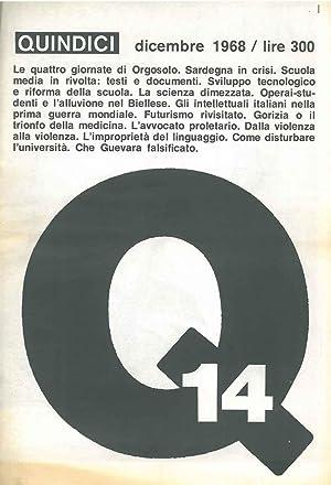 Quindici. Giornale mensile numero 14. Dicembre 1968.