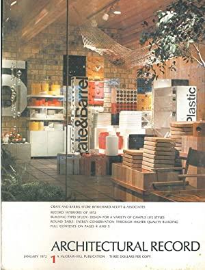 Architectural Record, n. 1, January 1972. Building Types study: College buildings - Design for a ...