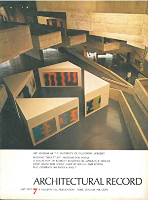 Architectural Record, n. 7, July 1972. Building Types study: Museum for today