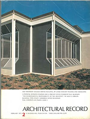 Architectural Record, n. 2, February 1972. Building Types study: Suburban office buildings