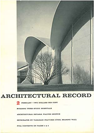 Architectural Record, n. 2, February 1965. Building Types study: Hospitals. Architectural details...