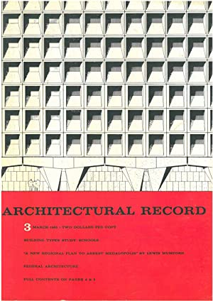 Architectural Record, n. 3, March1965. Building Types study: Schools