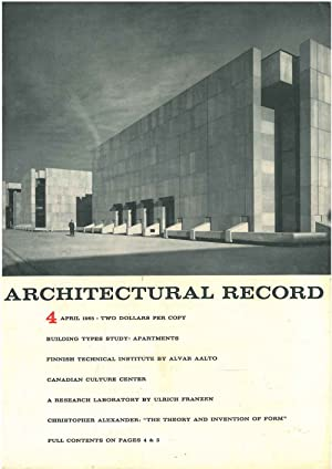 Architectural Record, n.4, April 1965. Building Types study: Apartmens. Finnish technical institu...