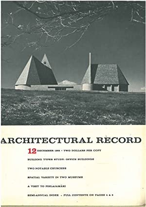 Architectural Record, n. 12, December 1965. Building Types study: Office buildings