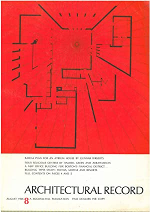 Architectural Record, n. 8, August 1966. Building types study: hotels, motels and resort