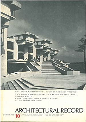 Architectural Record, n. 10, October 1966. Building types study: trends in hospital planning