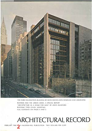 Architectural Record, n.2, February 1968. Building types study: Hospitals