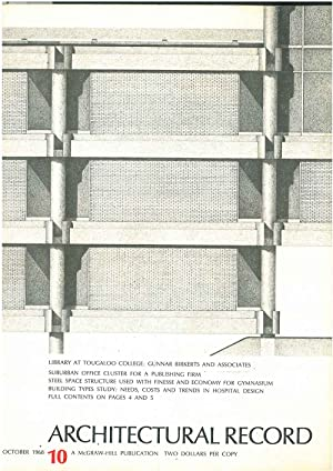 Architectural Record, n.10, October 1968. Building types study: Needs, costs and trends in hospit...