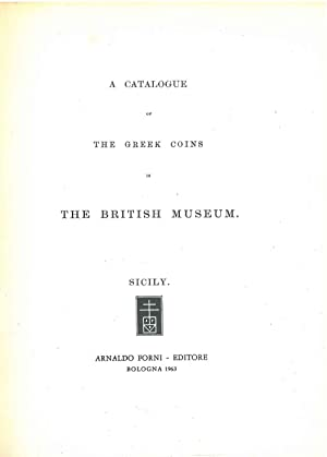 A catalogue of greek coins in the British Museum. Sicily
