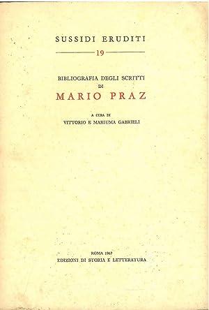 Bibliografia degli scritti di Mario Praz: Gabrieli Vittorio, Gabrieli