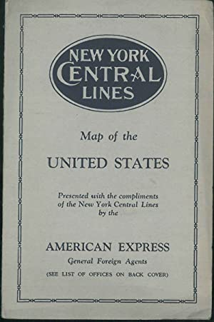 Map of the United States presented with the compliments of the New York Central Lines.