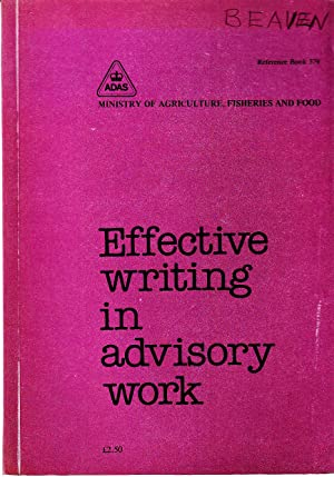 Effective Writing in Advisory Work